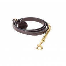Mark Todd Flat Leather with Brass Chain Lead Rein