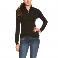 Ariat Women's Cadence Wool 1/4 Zip Base Layer (Black)
