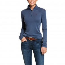 Ariat Women's Cadence Wool 1/4 Zip Base Layer (Lake Life)