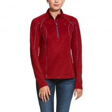 Ariat Women's Conquest 2.0 1/2 Zip Sweatshirt (Laylow Red)