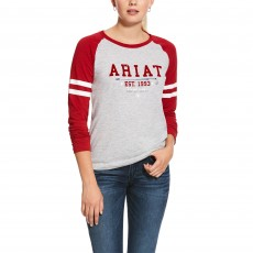 Ariat Women's Logo Flock Long Sleeve T-Shirt (Heather Grey)