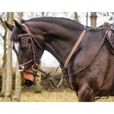 Mark Todd 3-Point Breastplate (Black/Brass Fittings)