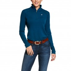 Ariat Women's Cadence Wool 1/4 Zip Long Sleeve Base Layer (Dream Teal)