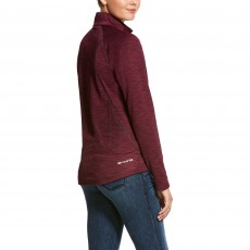 Ariat Women's Conquest 2.0 1/2 Zip Sweatshirt (Grape Wine)