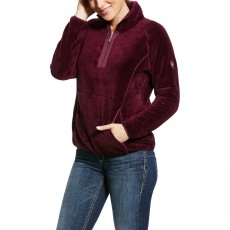 Ariat Women's Dulcet 1/4 Zip Sweatshirt (Grape Wine)