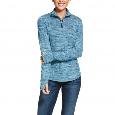 Ariat Women's Gridwork 1/2 Zip Long Sleeve Base Layer (Dream Teal)