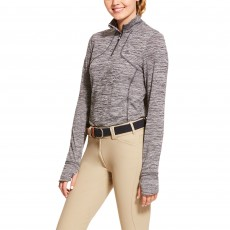 Ariat Women's Gridwork 1/2 Zip Long Sleeve Base Layer (Nine Iron)