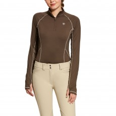 Ariat Women's Lowell 2.0 1/4 Zip Long Sleeve Base Layer (Banyan Bark)