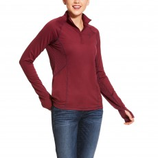 Ariat Women's Lowell 2.0 1/4 Zip Long Sleeve Base Layer (Grape Wine)