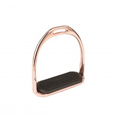 JHL Pro Steel Fillis Stirrup Irons (Rose Gold)