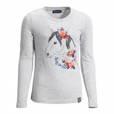 Ariat Girl's Boho Pony Long Sleeve T-Shirt (Heather Grey)