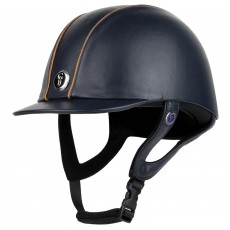 Gatehouse Jeunesse Leather Riding Hat (Navy)