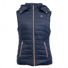 Mark Todd Women's Winter Padded Gilet (Navy/Rose Gold)