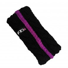 Ariat FEI Cable Knit Headband (Black/FEI Purple)