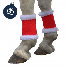 Hy Christmas Santa Horse Leg Wraps (Red & White)