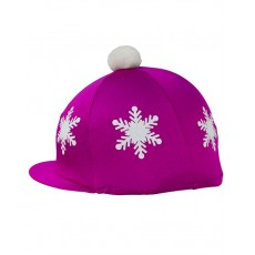 Hy Snowflake With Pom Pom Hat Cover (Dark Cerise)