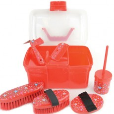 Lincoln Star Pattern Grooming Kit (Red)