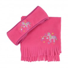 Little Rider Little Unicorn Head Band and Scarf Set  (Pink)