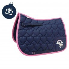 Little Rider Girl's Little Unicorn Saddlepad (Navy/Pink)