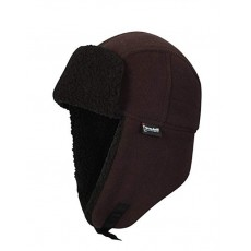 Waterproof Mens Fleece Lined Waterproof Trapper Hat (Brown)