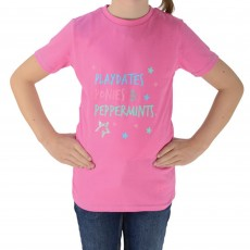 HyFASHION Zeddy Playdates T-Shirt (Azalea Pink/River Blue)