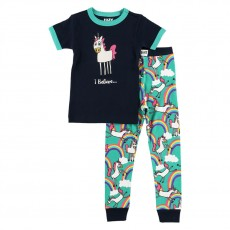 LazyOne Kids PJ Set (I Believe in Unicorns)