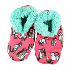 LazyOne Women's Don't Do Morning Fuzzy Slippers (Pink)