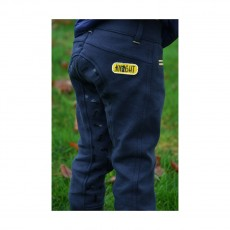 Little Rider Lancelot Full Silicone Breeches by Little Knight  (Navy/Yellow)
