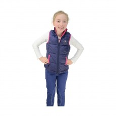 Little Rider Annabelle Padded Gilet  (Navy/Pink)