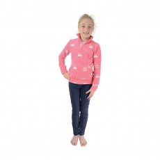 Little Rider Elsa Soft Fleece  (Princess Pink/White Flowers and Tiaras)