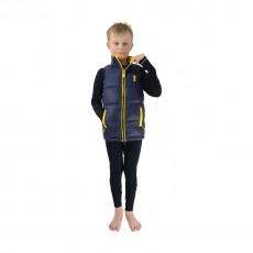 Little Rider Lancelot Padded Gilet by Little Knight  (Navy/Yellow)