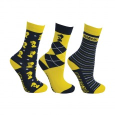 Little Rider Lancelot Socks by Little Knight (Pack of 3)  (Navy/Yellow/White)