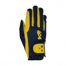 Little Rider Lancelot Children?s Riding Gloves by Little Knight  (Yellow/Navy)