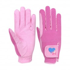 Little Rider Little Show Pony Children's Riding Gloves  (Prism Pink/Cameo Pink)