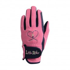 Little Rider Riding Star Children's Riding Gloves  (Rapture Rose/Navy)