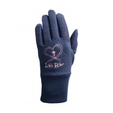 Little Rider Riding Star Children's Winter Gloves  (Navy)