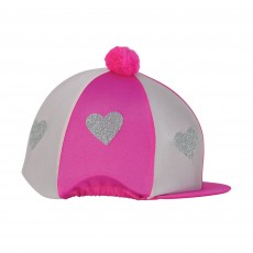 Little Rider Love Heart Glitter Hat Cover  (Pink/Light Pink)
