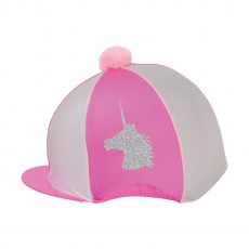 Little Rider Unicorn Glitter Hat Cover  (Cerise/Light Pink)