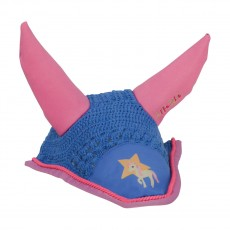Little Rider Star in Show Fly Veil  (Regatta Blue/Cameo Pink)