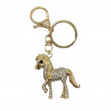 Little Rider Diamante Key Ring (Gold/Diamante)