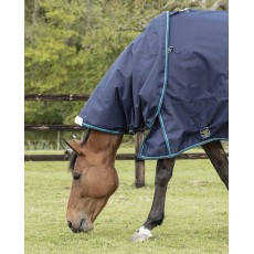 Mark Todd Turnout Rug Lightweight Neck Cover (Navy/Jade)