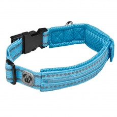 Woofmasta Hi-Viz Flashing Dog Collar  (Aqua)