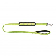 Woofmasta Flashing Dog Lead  (Yellow)