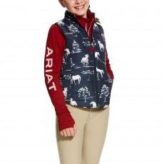 Ariat (Sample) Girl's Emma Reversible Vest (Shadow Pasture Print)