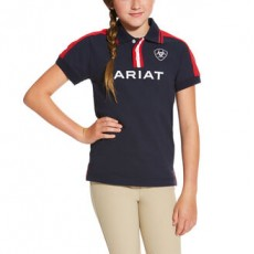 Ariat (Sample) Kids New Team Polo (Navy)