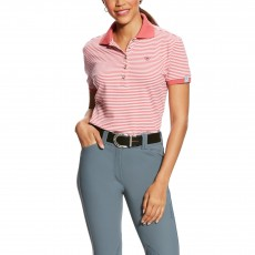 Ariat (Sample) Women's Prix Polo (Frayed Red Stripe)