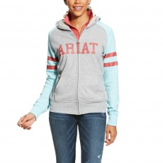 Ariat (Sample) Women's Booster Hoodie (Grey & Sky Blue)