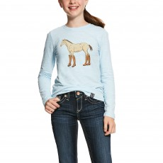 Ariat (Sample) Kid's Boots Long Sleeve T-Shirt (Tahoe Blue)