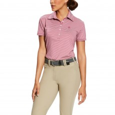 Ariat (Sample) Women's Talent Polo (Rose Violet Stripe)