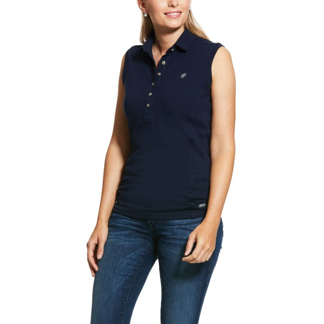 Ariat Women's Sleeveless Prix Polo 2.0 (Navy)